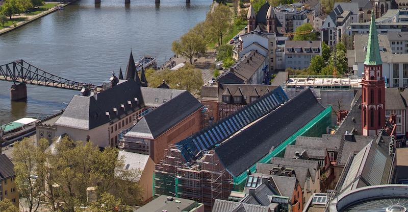 Das Foto zeigt aus der Vogelperspektive das Museumsquartier